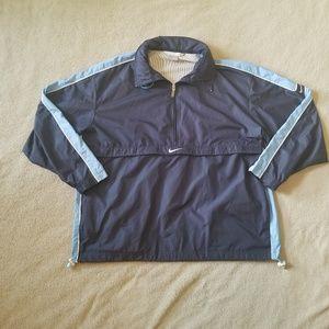 Nike Hooded Blue Pullover Windbreaker Jacket XL
